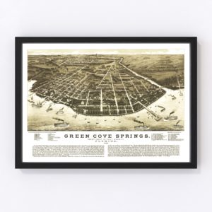 Vintage Map of Green Cove Springs, Florida 1885