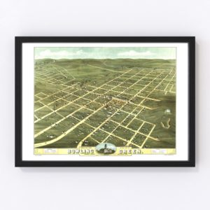 Vintage Map of Bowling Green, Kentucky 1871