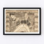 Vintage Map of New Orleans, Louisiana 1817