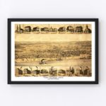 Vintage Map of Tell City, Indiana 1870