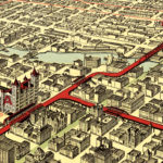 Vintage Map of Chicago, Illinois 1897