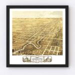 Vintage Map of Rochester, Minnesota 1869