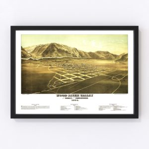 Vintage Map of Wood River Valley, Idaho 1884