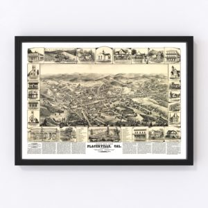 Vintage Map of Placerville, California 1888