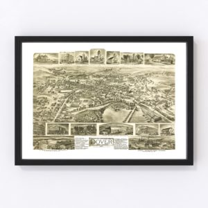 Vintage Map of Dover, New Jersey 1903