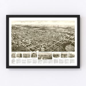 Vintage Map of Egg Harbor City, New Jersey 1924