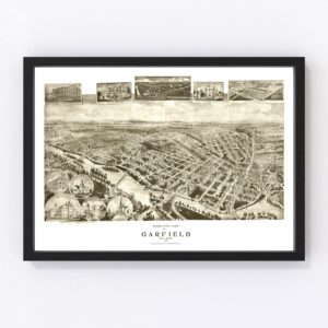 Vintage Map of Garfield, New Jersey 1909