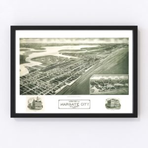 Vintage Map of Margate City, New Jersey 1925
