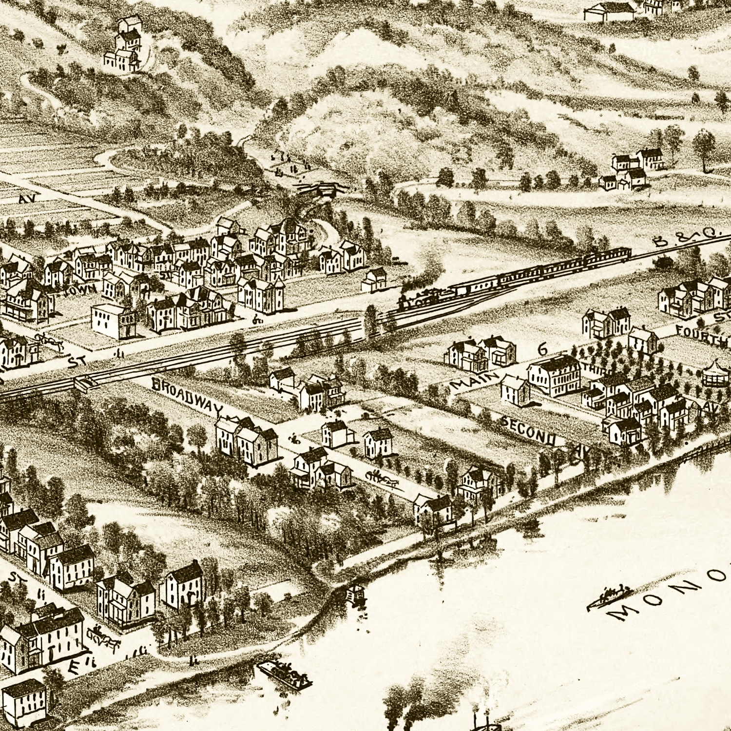 Vintage Map of Point Marion, Pennsylvania 1902