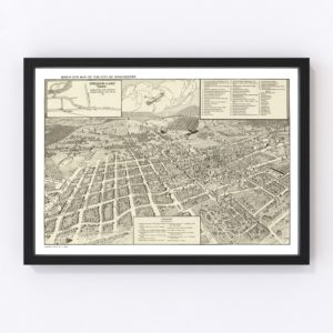 Vintage Map of Winchester, Virginia 1926