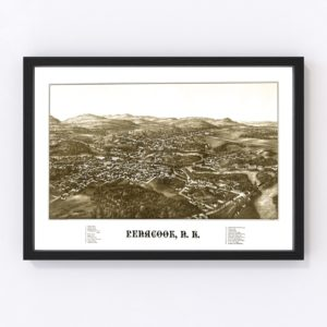 Vintage Map of Penacook, New Hampshire 1887