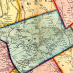 Vintage Map of Fairfield County, Connecticut 1856