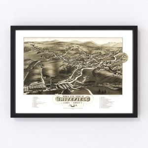 Vintage Map of Whitefield, New Hampshire 1883