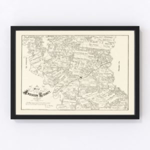 Vintage Map of Anderson County, Texas 1879