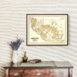 Vintage Map of Kinney County, Texas 1884
