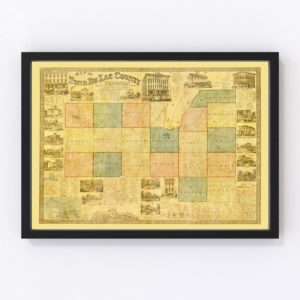 Vintage Map of Fond du Lac County, Wisconsin 1858