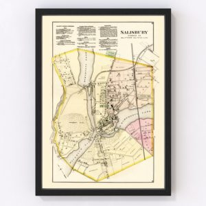 Vintage Map of Wicomico County, Maryland 1877