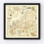Vintage Map of Kings County, New York 1886