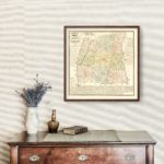 Vintage Map of Laurens County, South Carolina 1883
