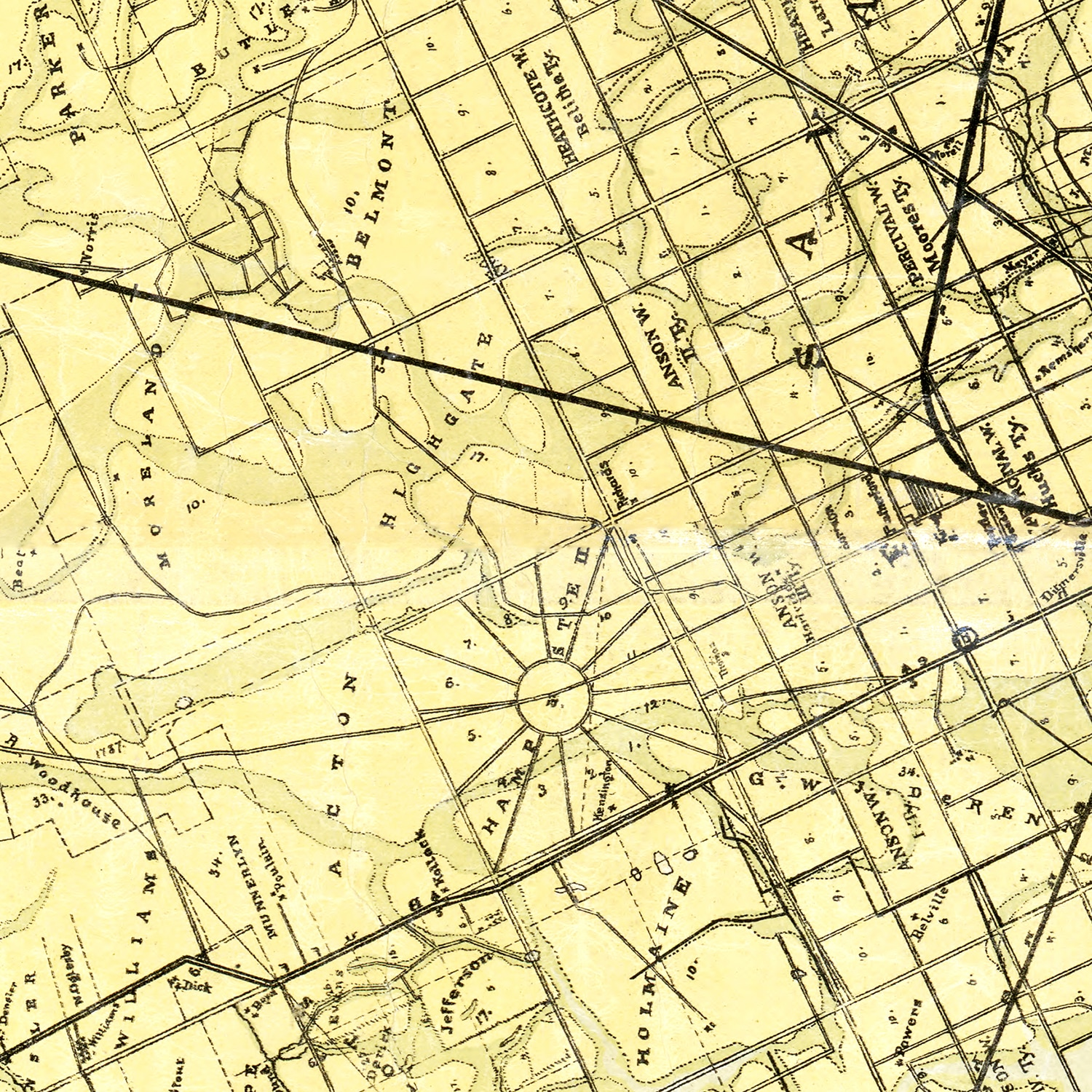 Vintage Map of Chatham County, Georgia 1875