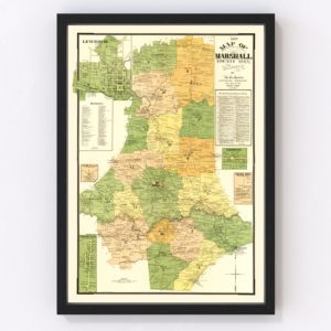 Vintage Map of Marshall County, Tennessee 1899