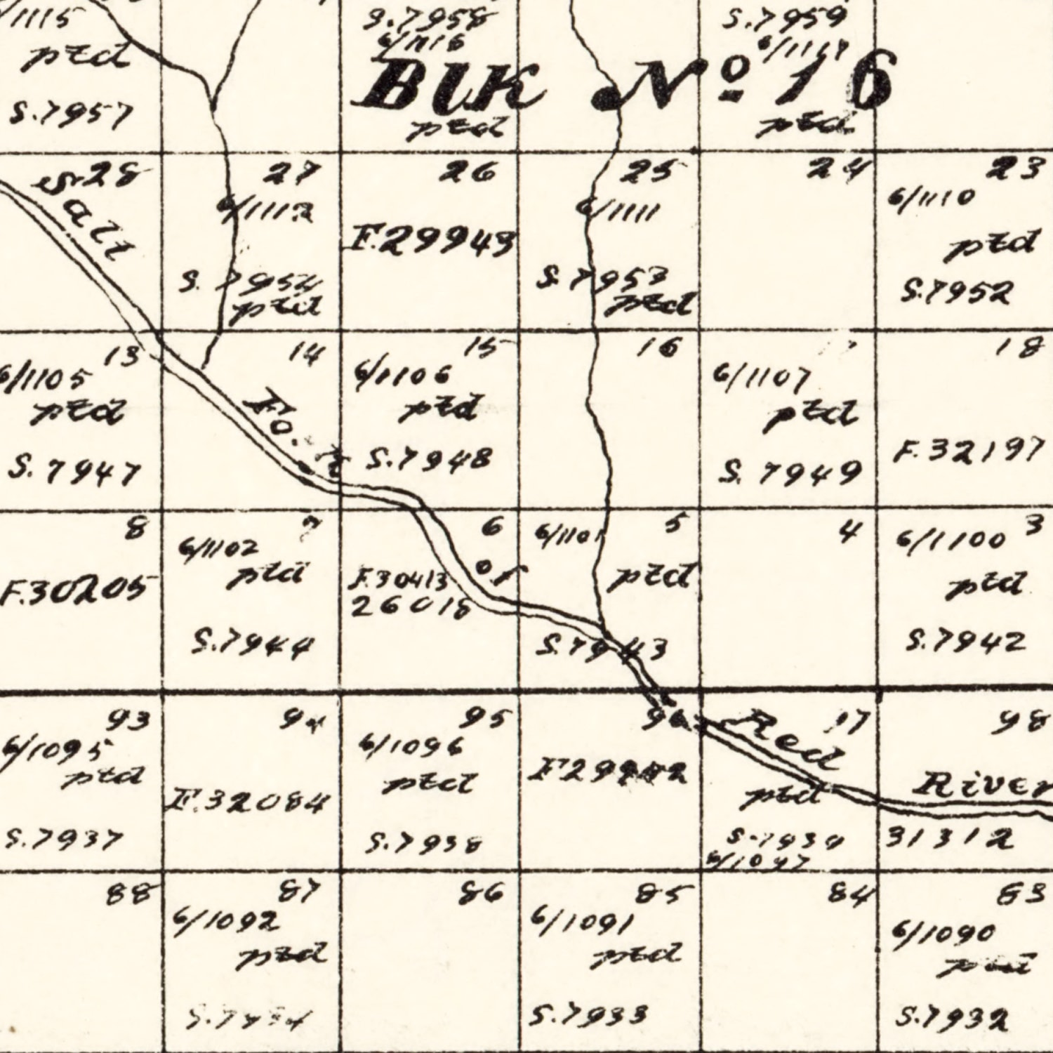 Vintage Map of Collingsworth County, Texas 1892