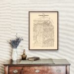 Vintage Map of Concho County, Texas 1879