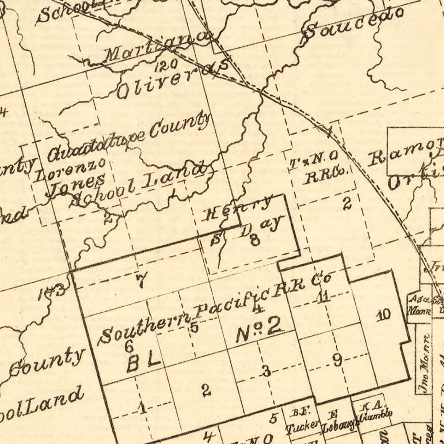 Vintage Map of Taylor County, Texas 1890