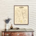 Vintage Map of Wise County, Texas 1870