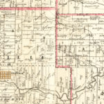 Vintage Map of Licking County, Ohio 1854