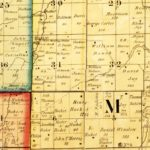 Vintage Map of Grant County, Indiana 1869