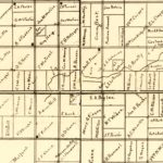Vintage Map of Clay County, Iowa 1896