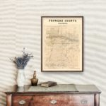 Vintage Map of Prowers County, Colorado 1889