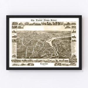 Vintage Map of Exeter, New Hampshire 1877