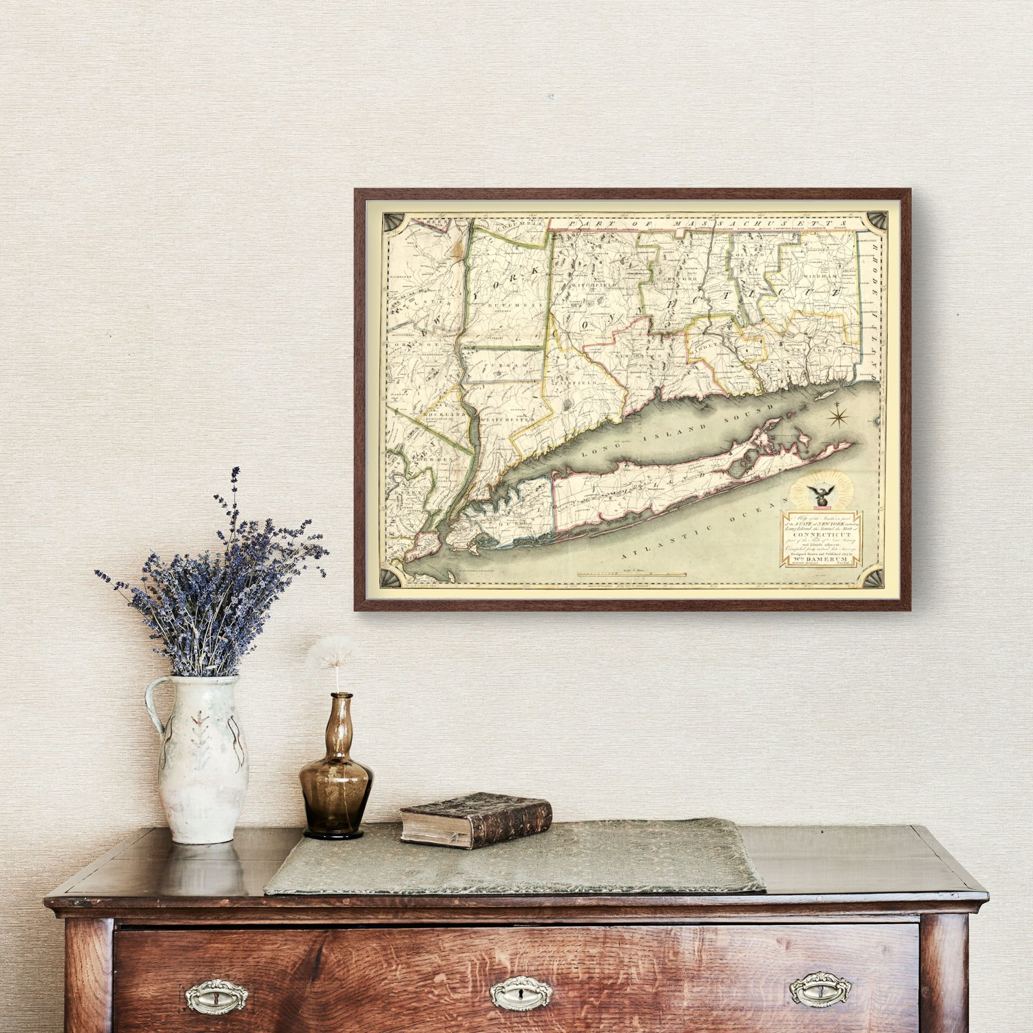 Vintage Map of New York, 1815