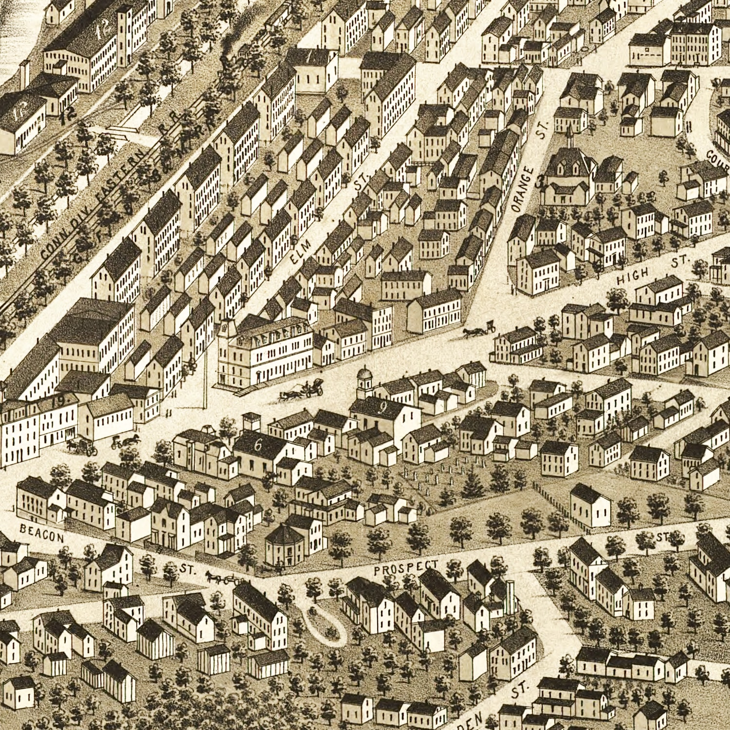 Vintage Map of Great Falls, New Hampshire 1877