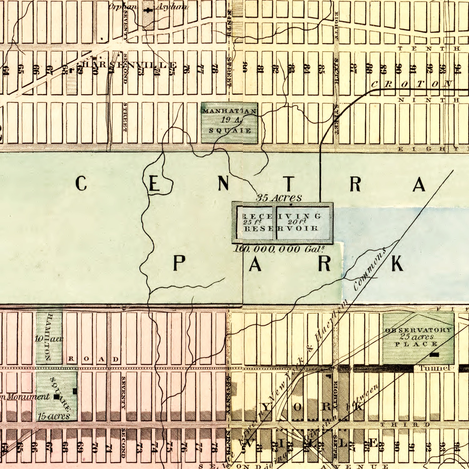Vintage Map of New York, 1857
