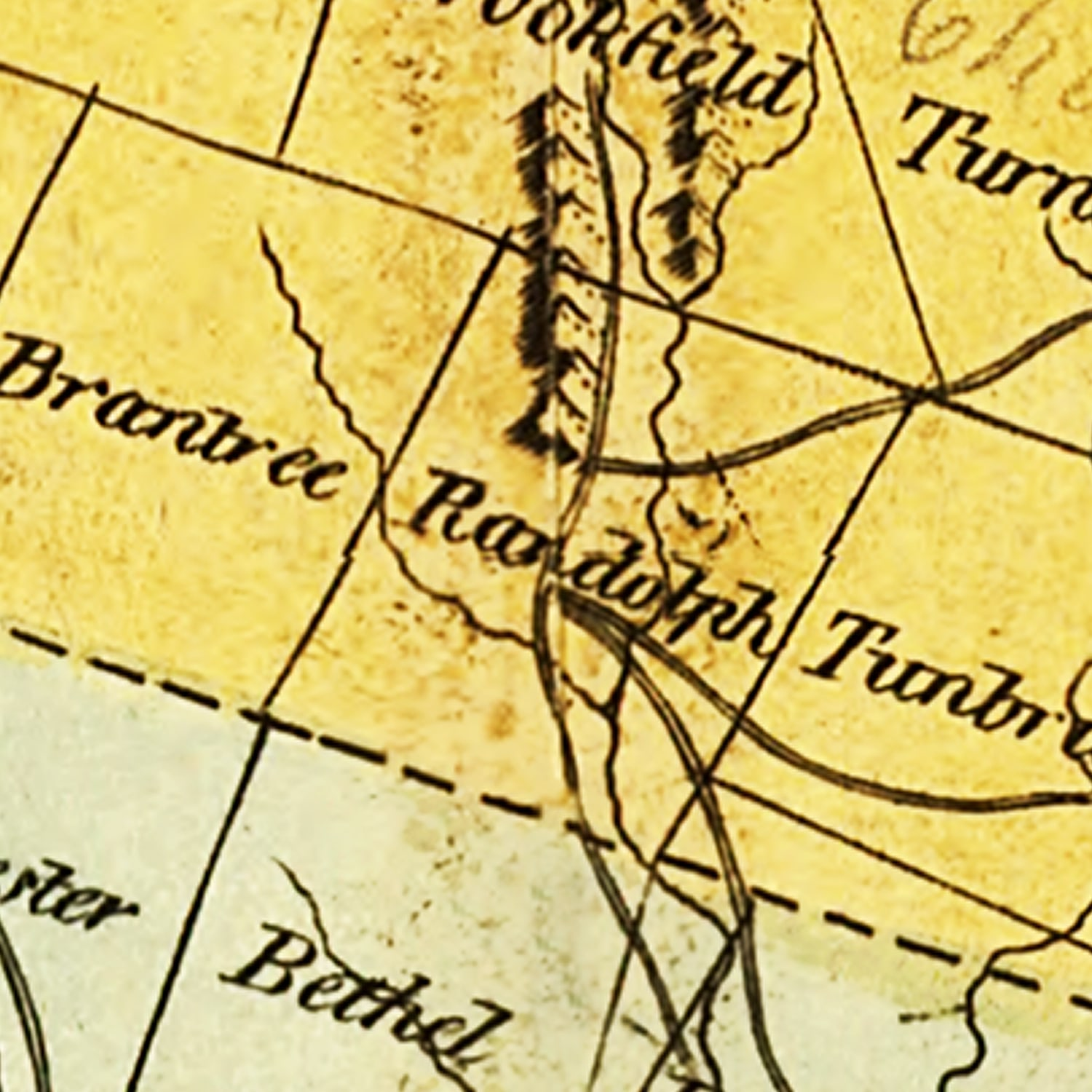 Vintage Map of Vermont, 1814