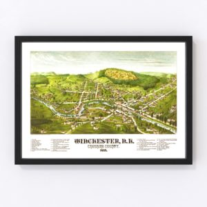 Vintage Map of Winchester, New Hampshire 1887