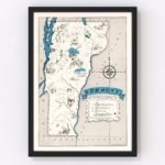 Vintage Map of Vermont, 1931