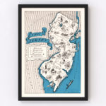 Vintage Map of New Jersey, 1931