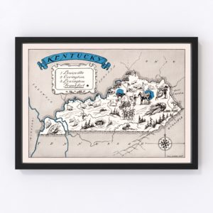 Vintage Map of Kentucky, 1931