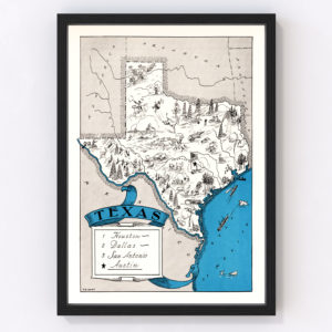 Vintage Map of Texas, 1931