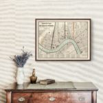 Vintage Map of New Orleans, Louisiana 1845