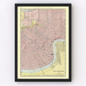 Vintage Map of New Orleans, Louisiana 1903