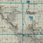 Vintage Map of Delaware County Iowa, 1875