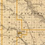 Vintage Map of Guthrie County Iowa, 1875