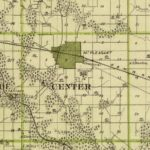 Vintage Map of Henry County Iowa, 1875