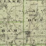 Vintage Map of Wright County Minnesota, 1874