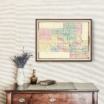 Vintage Map of Shawano County Wisconsin, 1878